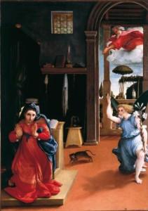 l'Annunciazione di Lorenzo Lotto
